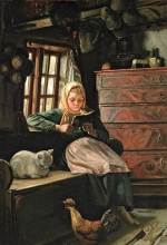 GirlReading MichaelPeterAncher