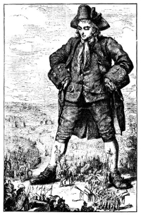 Gulliver standing