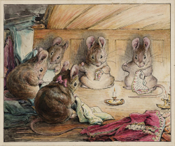 The Tailor mice sewing Mayors coat for Tailor