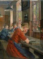 GirlReading InAnOrphanage 1891 GotthardKuel