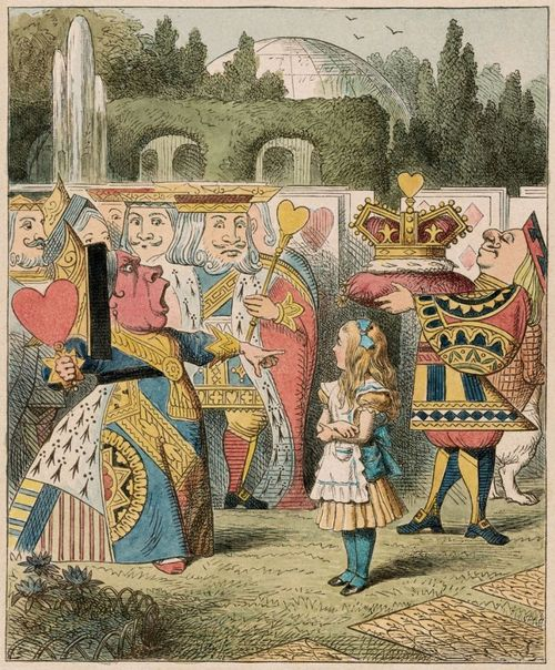 """AliceQueenJOHN TENNIEL, """"OFF WITH HER HEAD!"""" (1885)  COURTESY MORGAN LIBRARY & MUSEUM"""