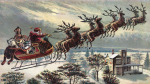 Santa Claus Sleigh and Reindeer tlg