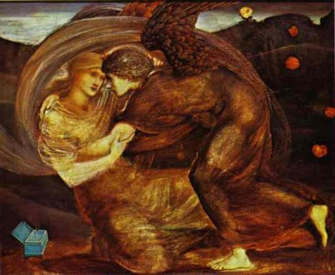 Eros-delivering-psyche Edward Burne-Jones