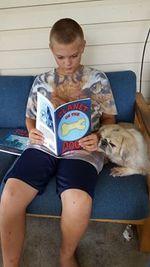 RjwithYogi reading PODbook