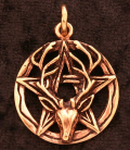 Witch Horned God Pentacle
