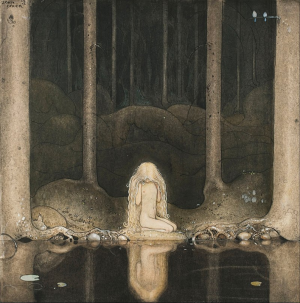 John_Bauer_-_Princess_Tuvstarr_gazing_down_into_the_dark_waters