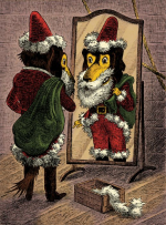 Mirror Mr Dg as Santa