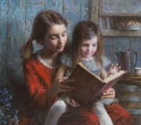 Girls Reading Morgan Weistling