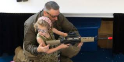 Assault weapon young girl Huff post