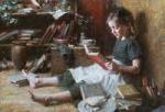 Girl Reading  Morgan Weisling