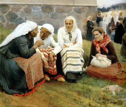 Edelfelt Albert Peasent women