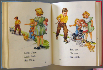 Dick and Jane open book
