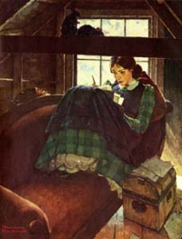 Jo In the Attic Normanrockwell