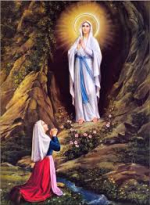 SaintBernadetteLourdes and Virgin Mary