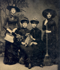 Witch vintage photo