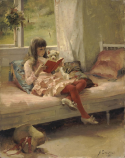 GirlReading Albert Edelfelt