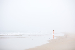 Girl FoggyBeach. byJulia Soplop