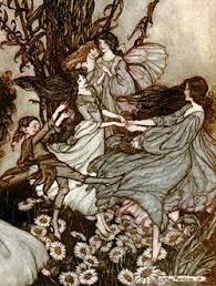 Fairies Dancing Full Moon Rackham